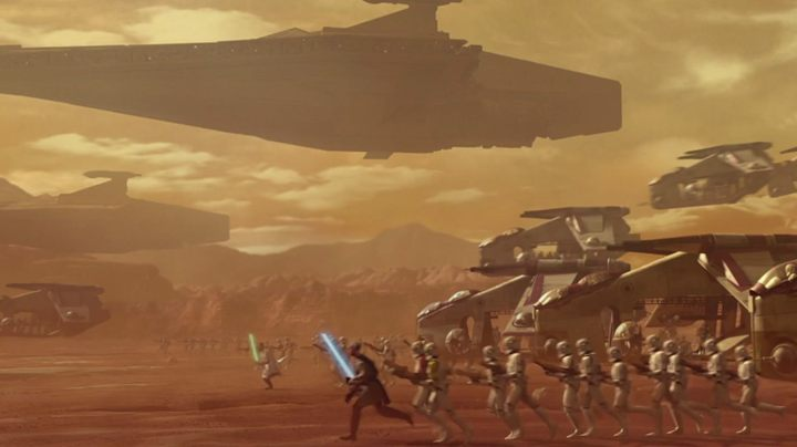 It was the Jedi that attacked the separatists. The landing on the desert planet was supposed to be a surgical incision that would remove the threat. It turned out to be the beginning of a great conflagration. - What are Star Wars About? Not What You Though. - dokument - 2019-11-28