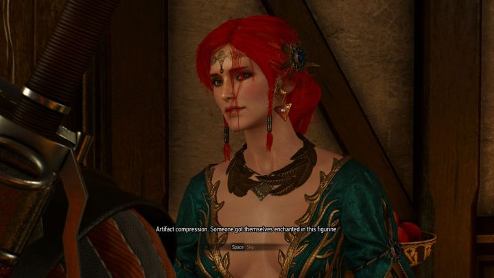 Another subtle nod can be found in relation to the figurines of the unfortunate people subjected to artefact compression by sorceress Coral. Still, once they were decompressed, Geralt somehow failed to mention that there had been something going on between him and Lytta Neyd. Perhaps he just wanted to keep the matter a secret from Triss? - 2017-06-16
