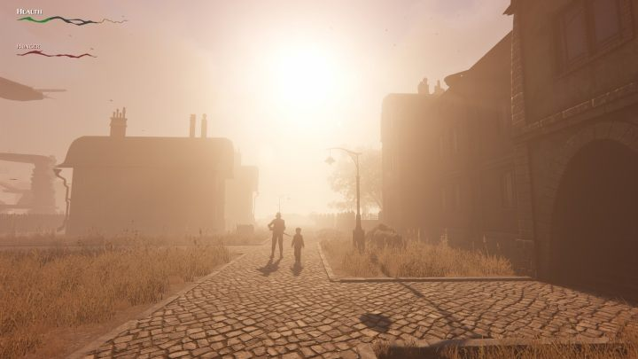 As you can see from the bars, I'm starving :( The sunset is beautiful, tho! - More Difficult With Each Death – How Pathologic 2 Toys with our Gaming Habits - dokument - 2019-10-04