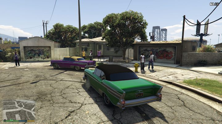 A visit to Grove Street in GTA V reveals that the former territory of the Families has been taken over by the Ballas. - Rap, Riots, and Gangs of LA – True Story Behind GTA: San Andreas - dokument - 2020-06-05
