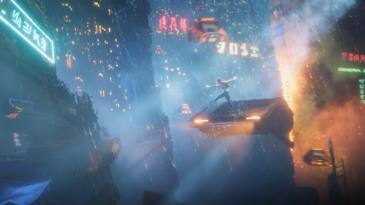 The cyber-punk vision of a metropolis in The Last Night is breathtaking. Seriously. - 2019-02-27