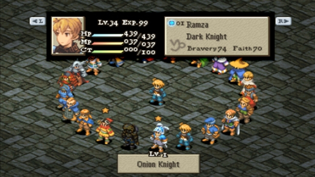 The profession system makes FFT one of the best SRPGs.