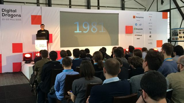 Brian Fargo during his lecture at Digital Dragons in Krakow. - 2015-06-01