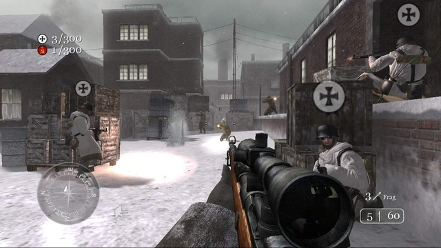In the first Call of Duty games Germans in multiplayer mode were represented by the Iron Cross. - 2015-02-17