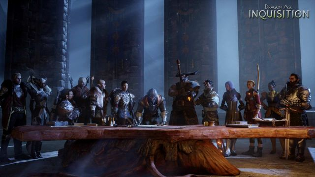 The Inquisitor among the nine team members and his advisors. - 2014-10-07