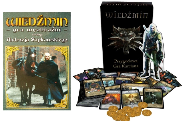 The Witcher: A Game of Imagination (on the left) and The Witcher: Adventure Card Game (on the right). - 2016-01-12
