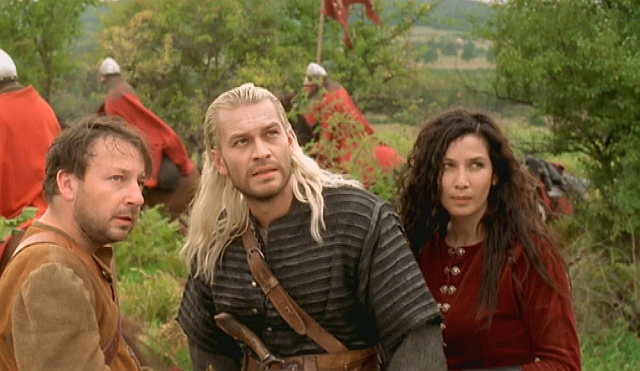 Dandelion, Geralt and Yennefer in the 2002 film / TV series. - 2016-01-12
