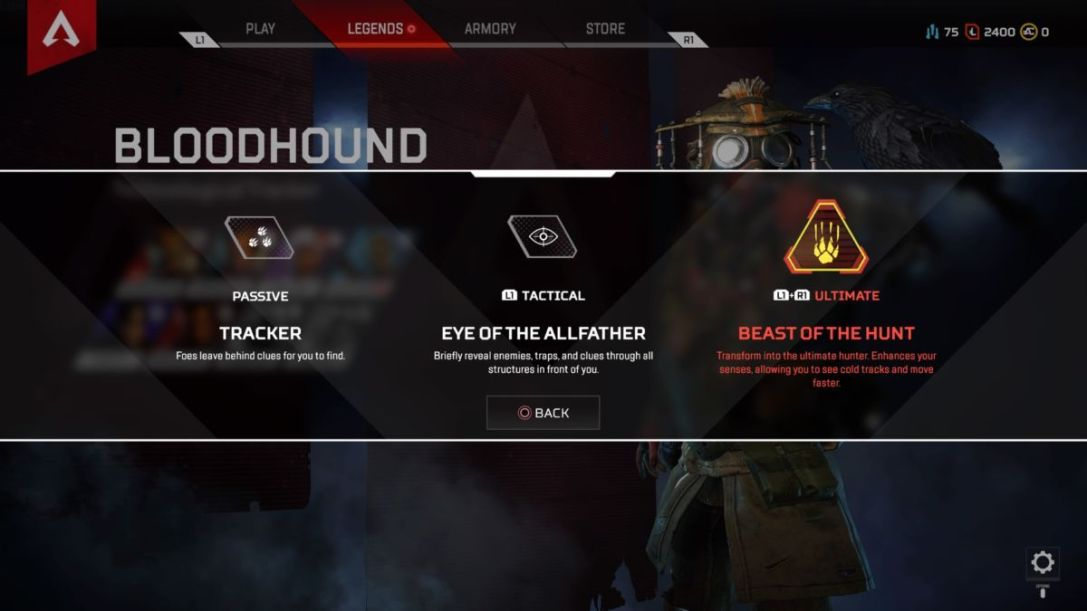 Bloodhound is one of the most interesting characters in <i>Apex Legends</i> – able to track other players by following their trail. - 2019-02-25