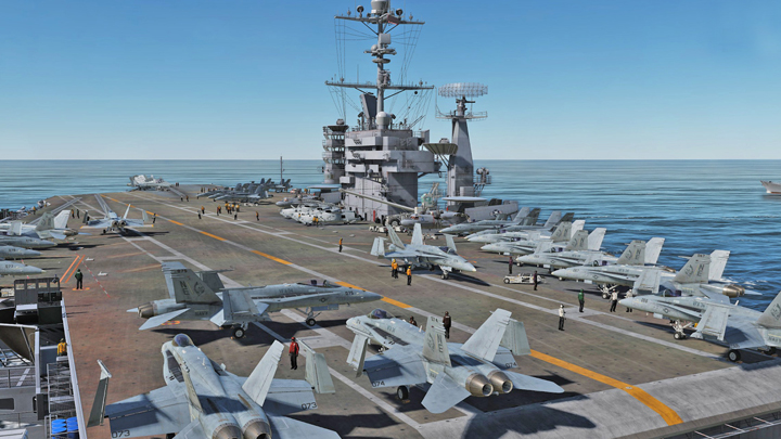 The interactive deck of the aircraft carrier should feature a genuine briefing room. - The Renaissance of Flight Simulators – What are the Chances for a Narrative Air Combat Game? - dokument - 2019-12-17