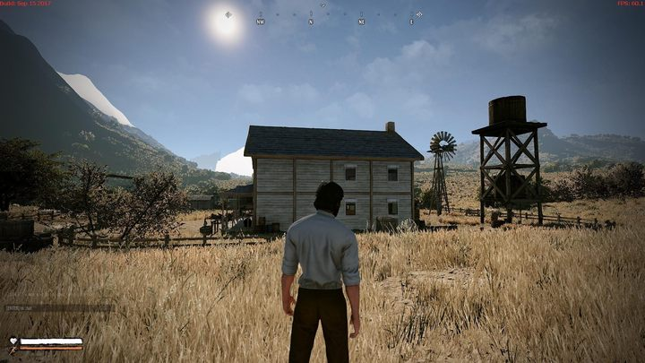 Little House on the Prairie... stands empty. Other than vendors, there are no NPCs in the alpha version. - 2017-09-27