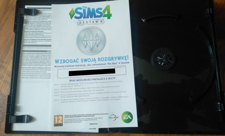 Boxed editions of DLCs for The Sims 4 don't even contain discs, only a card with an Origin code. - Seven Things PS5 Will Do Better Than PC - dokument - 2019-09-17