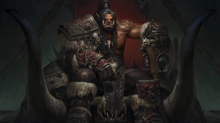 "Looking at Grommash Hellscream, it's hard to resist the impression that this is not one of the ""good guys."" Uther should be on guard! - 2019-01-22"