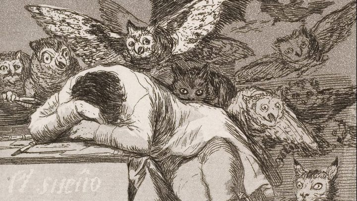 The Sleep of Reason Produces Monsters – a fragment of a famous engraving by the Spanish painter and printmaker, Francisco Goya. - 2019-01-22