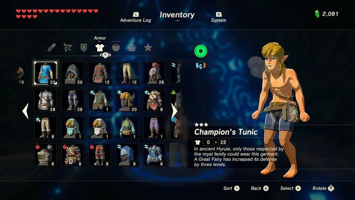 Types Of Armor Hyrule Warriors Age Of Calamity Needs This Gamepressure Com