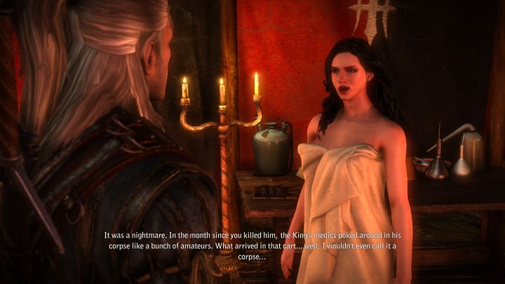 Yennefer in the Witcher 2 appears only thanks to modders (the screenshot features Triss Replacement Mod). - 2017-06-29