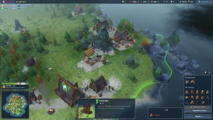 In Northgard, the onset of winter never bodes well. - The Best Strategy Games Released On PC in Recent Years - Our Editor's Choice Ranking List - dokument - 2019-07-23