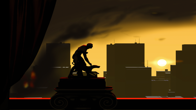 The peculiar, yet unrealistic, graphic style of Sunset is one of the games selling points. - 2014-12-31