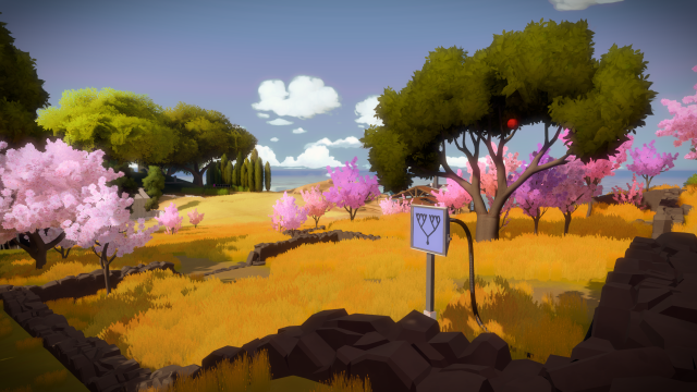 The colorful art style of The Witness, brings to mind watercolor paintings. - 2014-12-31