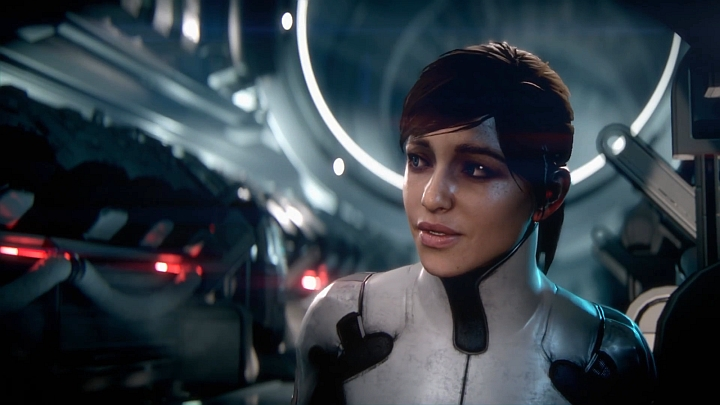 The default countenance of miss Ryder is not as warrior-like as that of miss Shepard, but it's rather obvious that she knows how to handle a rifle. - 2016-07-15