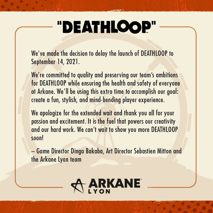 Deathloop Delayed Until September - picture #1