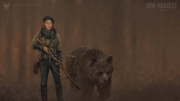 Iron Harvests main heroes are a sniper named Anna and the bear Wojtek - picture #1