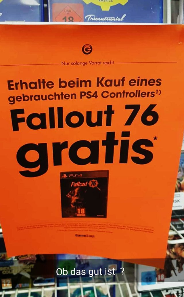 Buy used PS4 controller, get a copy of Fallout 76 for free - picture #2