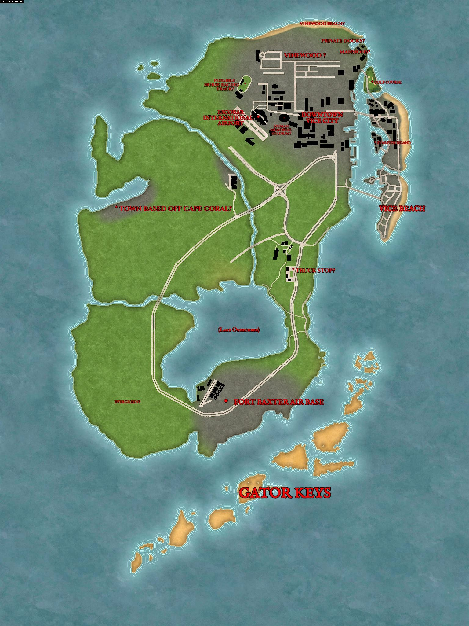Image of: Leak Of Possible Gta 6 Map Electrifies Fans Gamepressure Com