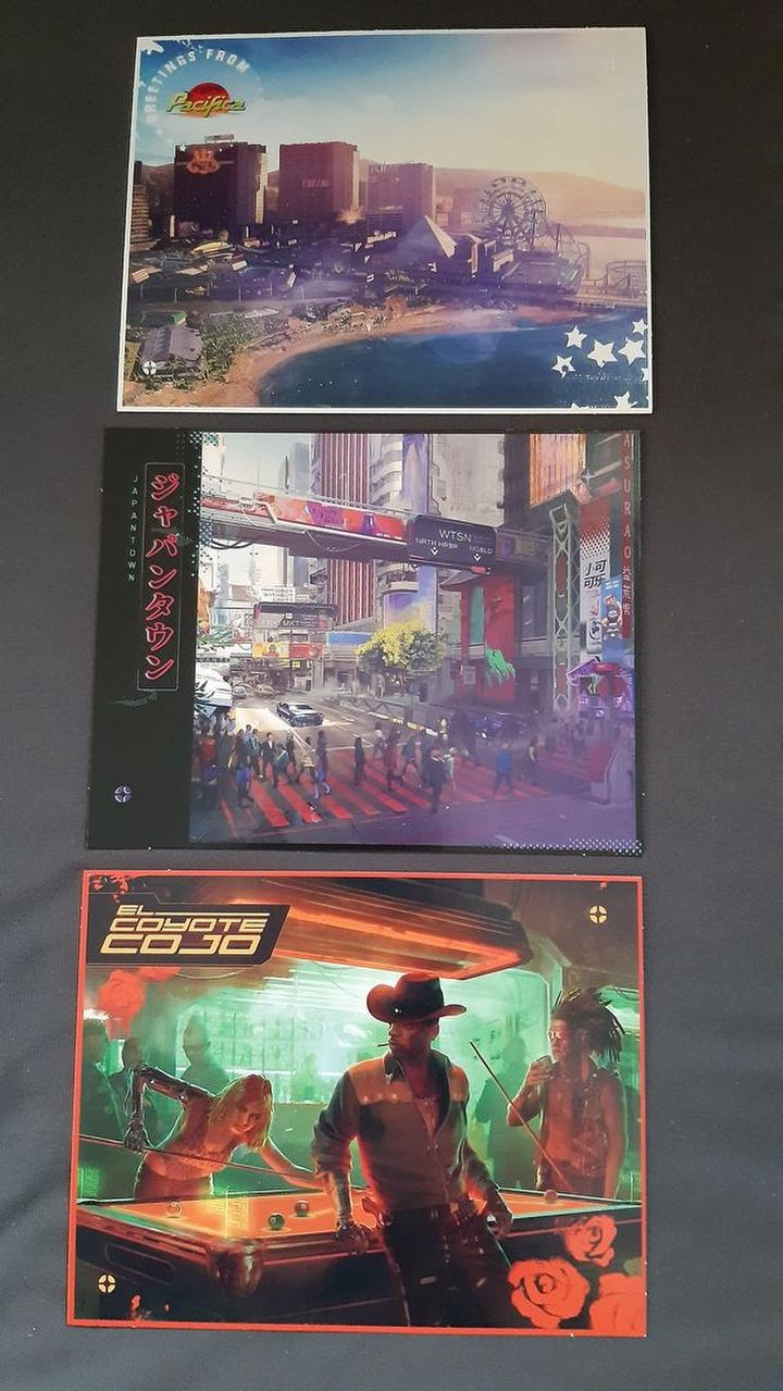 Cyberpunk 2077 Map and More Postcards From Night City ...