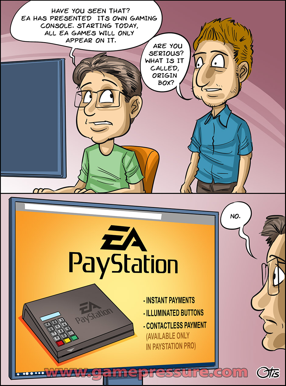 Electronic Arts releases a new console, comics Cartoon Games, #238. Apparently, it's going to be a breakthrough.