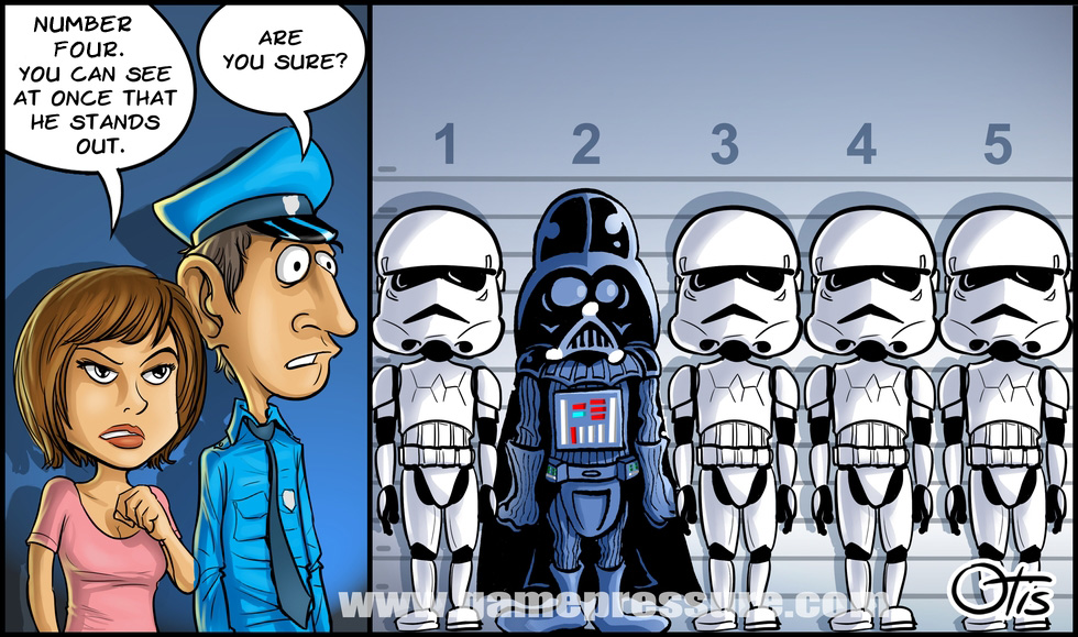 The Usual Suspects, comics Cartoon Wars, #13. Serious space investigation.