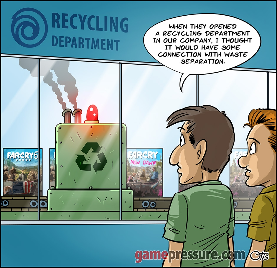 Recycling, comics Cartoon Games, #275. Taken a bit too seriously...