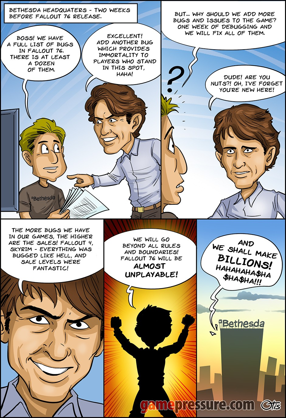 Once Upon A Time In Bethesda, comics Cartoon Games, #260. Long Live Fallout!