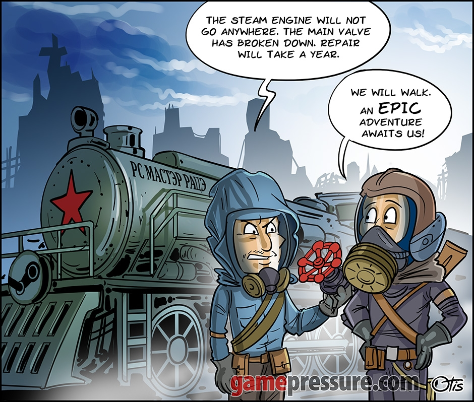 Valve full of Steam is an Epic dream, comics Cartoon Games, #274. Valve vs Epic.