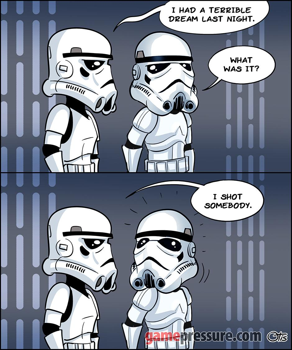 Nightmare of a Storm Trooper, comics Cartoon Wars, #110.