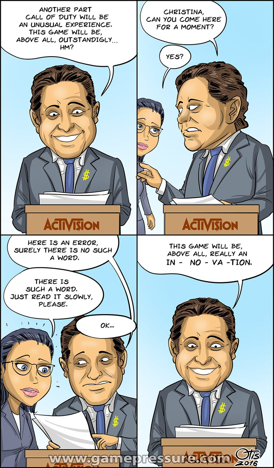 Call of Duty: Innovation, comics Cartoon Games, #170. It's a difficult word for Activision.