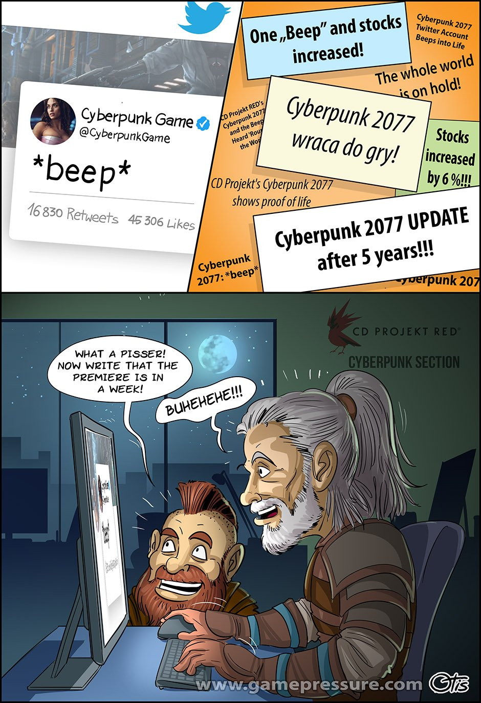 Who sent the *beep* from Cyberpunk?!, comics Cartoon Games, #230. We've been waiting for so long to hear something about Cyberpunk 2077...